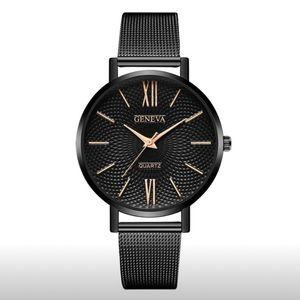 Women's stainless steel quartz watch.